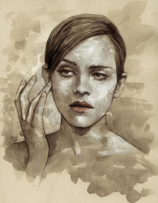 Эмма Уотсон. Автор: Helen Green.