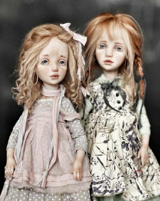 Авторские куклы Елены Опланской.