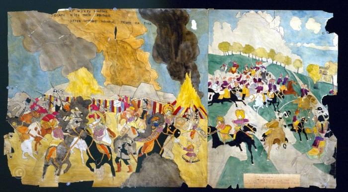 Зарисовки: История о девочках Вивиан, Генри Даргер. \ Фото: google.com.