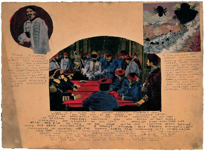 Без названия (Портреты гланделинских и высокопоставленных аббианнских генералов), Генри Даргер, 1950 г. \ Фото: prabook.com.