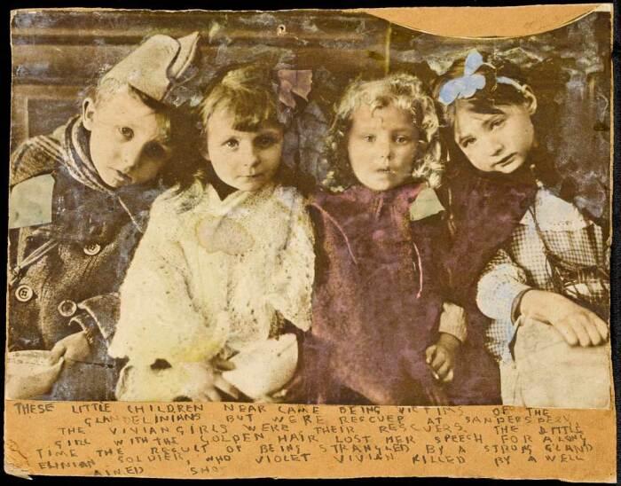 Без названия (Это всего лишь маленькие дети), Генри Даргер. \ Фото: blogspot.com.
