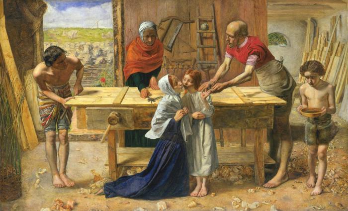 Джон Эверетт Милле: Христос в родительском доме. \ Фото: ru.wikipedia.org.