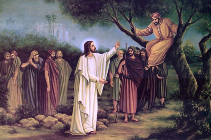 Иисус и Закхей. \ Фото: google.com.