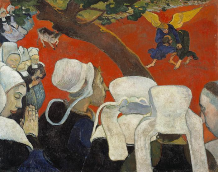 Видение проповеди (Якоб борется с Ангелом), Поль Гоген, 1888 год. \ Фото: brainstudy.info.