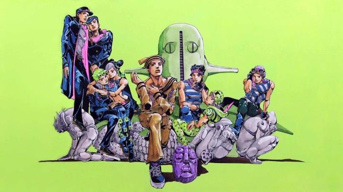 Рисунок всех главных героев ДжоДжо, Хирохико Араки, 2013 год. \ Фото: medibang.com.