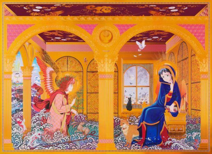 Религиозная тематика в работах Хироши Мори (Hiroshi Mori).