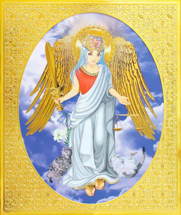 Религиозные мотивы в работах Хироши Мори (Hiroshi Mori).