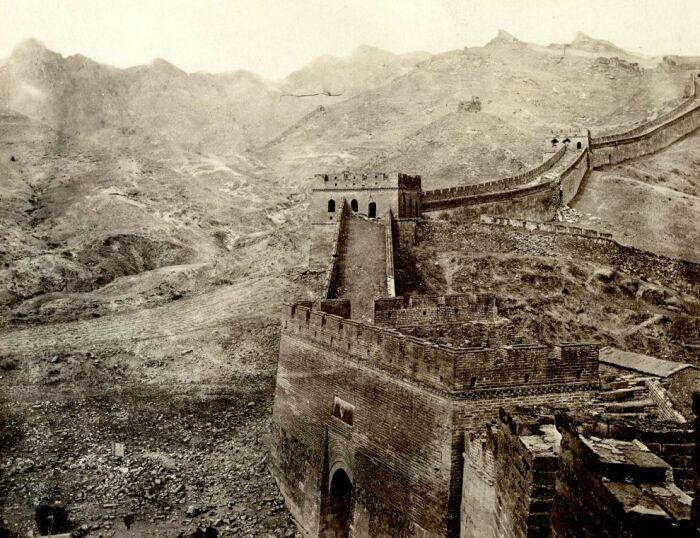 Великая Китайская стена, примерно 1907 год. \ Фото: pinterest.ru.