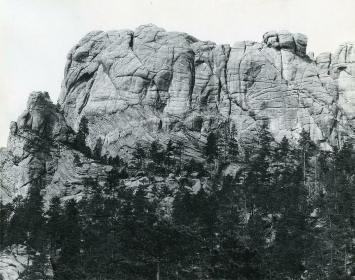 Гора Рашмор, 1905 год. \ Фото: reddit.com.