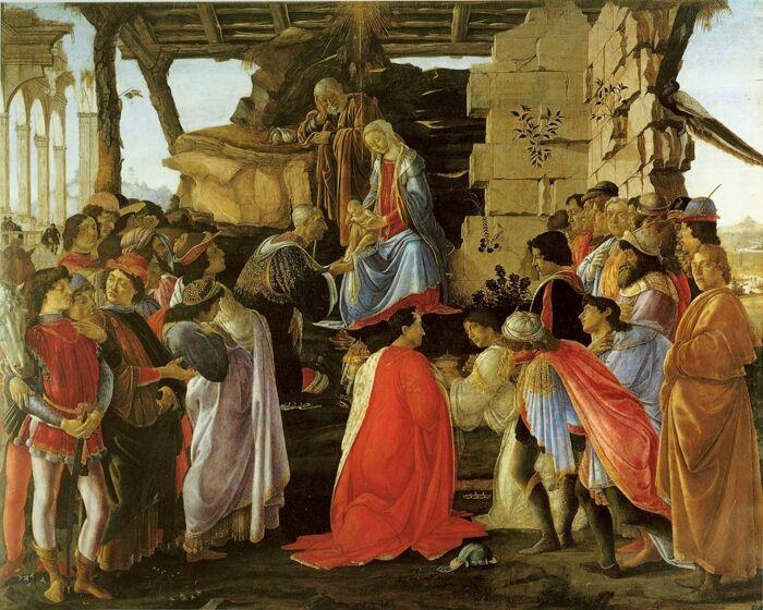 Сандро Боттичелли: Поклонении волхвам. \ Фото: pinterest.es.