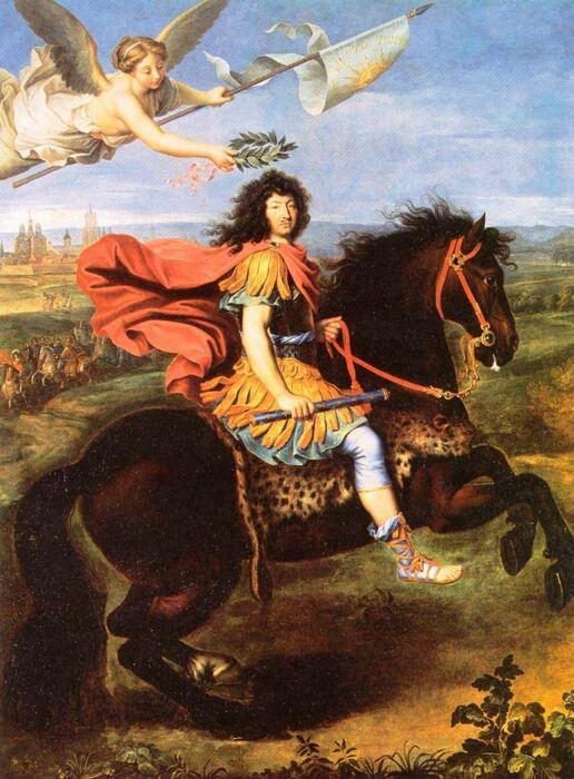 Конный портрет Людовика XIV. \ Фото: cutlermiles.com.