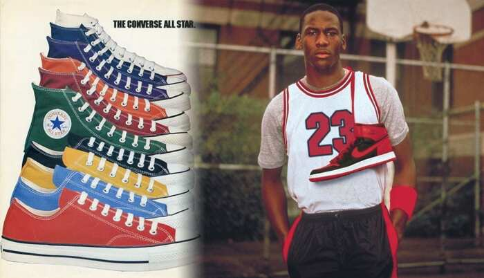 Слева направо: The Converse All-Star 1982. \ Майкл Джордан Nike Air Force 1. \ Фото: google.com.