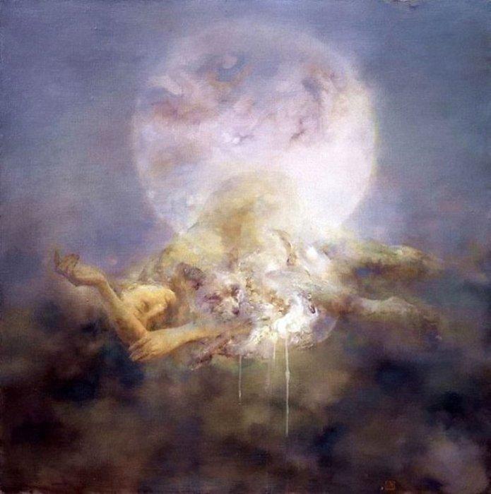 Луна.  Работы художника: Ху Джун Ди (Hu Jun Di).