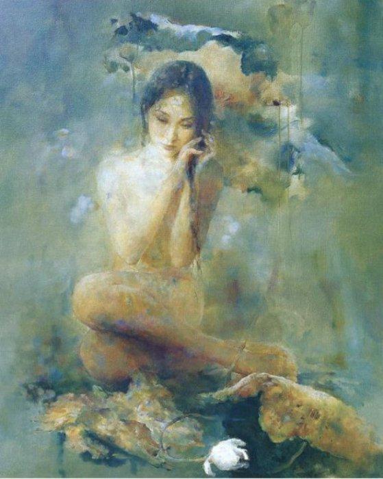Одиночество. Работы художника: Ху Джун Ди (Hu Jun Di).