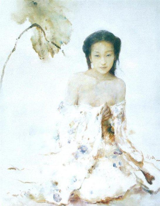 Тишина.  Работы художника: Ху Джун Ди (Hu Jun Di).
