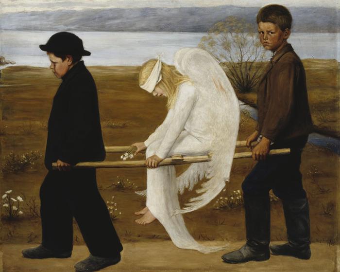 Раненый Ангел, 1903 год. Автор: Hugo Simberg.