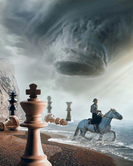 Шахматная партия. Автор: Huseyin Sahin.