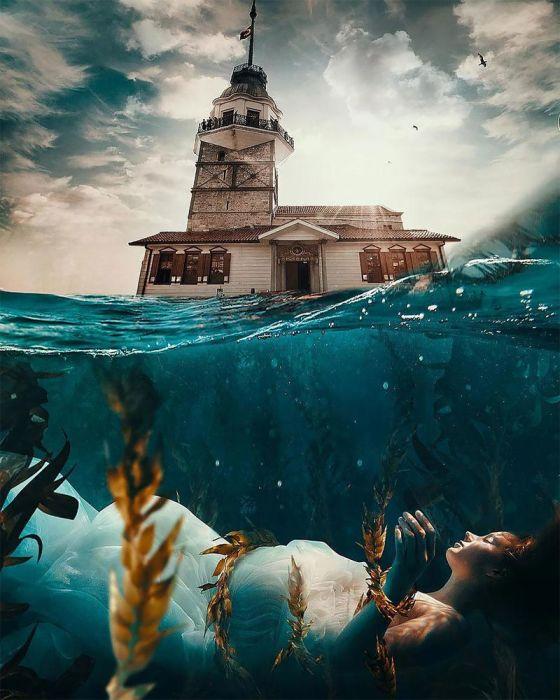 Девичья башня. Автор: Huseyin Sahin.