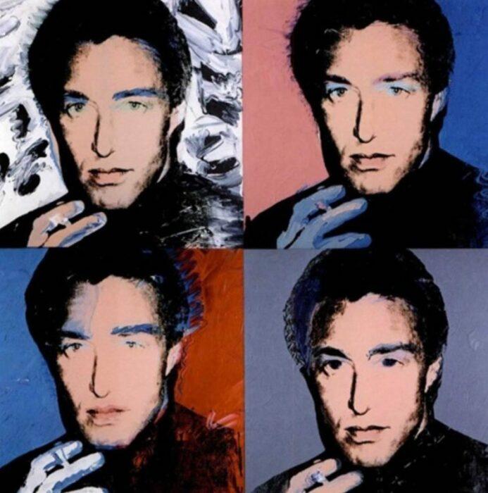 Четыре портрета Хэлстона, Энди Уорхол. \ Фото: google.com.