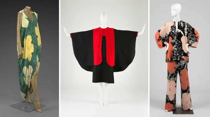 Слева направо: Вечернее платье от Halston, 1972 год. \ Платье с накидкой, 1966 год. \ Костюм, 1974 год. \ Фото: google.com.