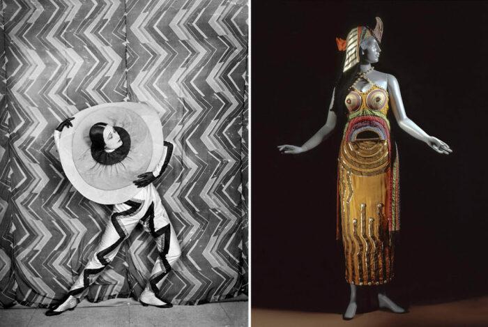 Слева направо: Костюм для фильма Рене Ле Сомптье, 1926 год. \ Костюм Клеопатры для русского балета, 1918 год. \ Фото: facebook.com.