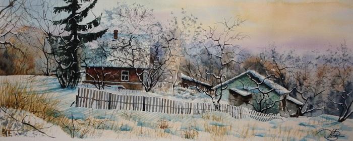 Деревенская зима. Автор: Игорь Дубовой.