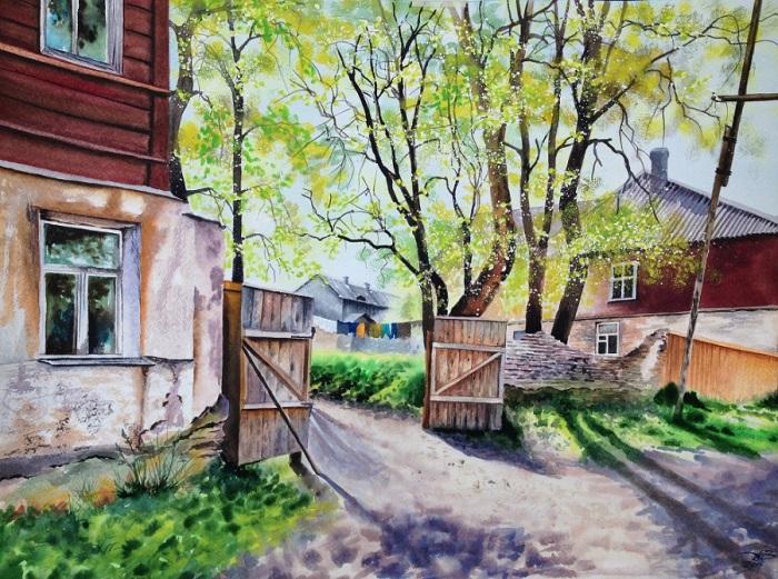 Весна на Заречной улице. Автор: Игорь Дубовой.