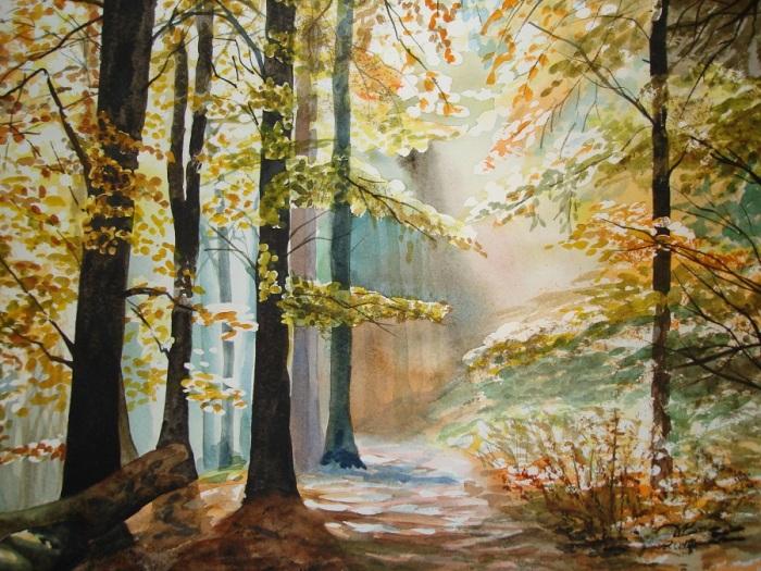 Залитый солнцем лес. Автор: Игорь Дубовой.