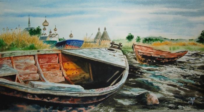 Старая лодка. Автор: Игорь Дубовой.