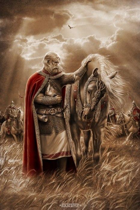 Вещий Олег. Прощание с конём. Автор: Игорь Ожиганов.