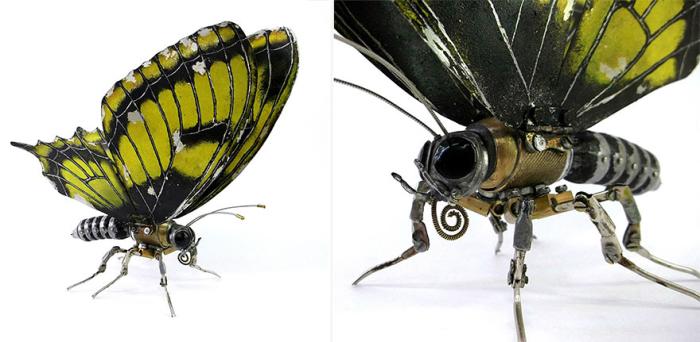Механическая бабочка в стиле стимпанк. Автор: Игорь Верный.