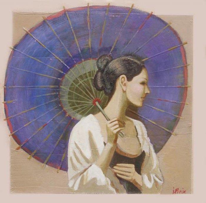 Девушка с зонтиком. Автор: Ilze Preisa.