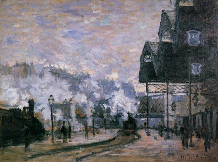Клод Моне - Вокзал Сен-Лазар, Западный регион, Товарные сараи, 1877 год.