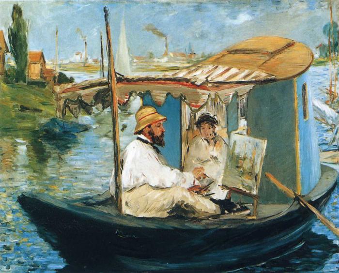 Моне и госпожа Моне в лодке, Эдуар Мане, 1874 год. \ Фото: artchive.ru.