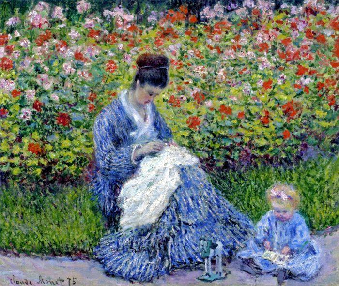 Клод Моне «Мадам Моне с ребёнком в саду художника в Аржантее». \ Фото: yandex.com.