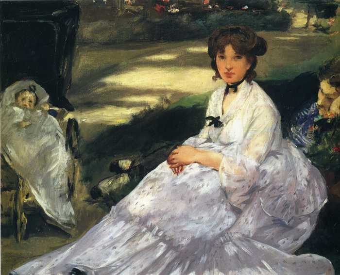 В саду, Мане, 1870 год.\ Фото: ru.artsviewer.com.