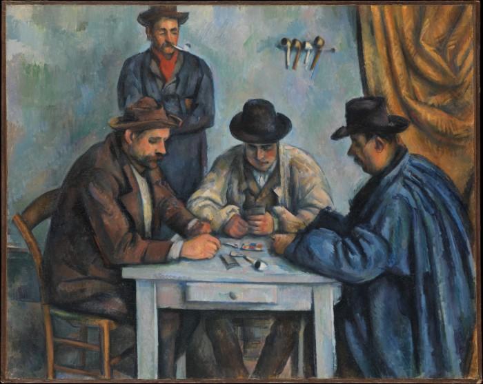 Игроки в карты, 1890–1892 гг.,  Метрополитен-музей, Нью-Йорк. \ Фото: wikipedia.org.