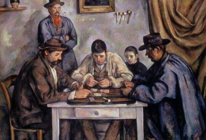 Игроки в карты, 1890–1892 гг., Фонд Барнса, Филадельфия. \ Фото: wikipedia.org.