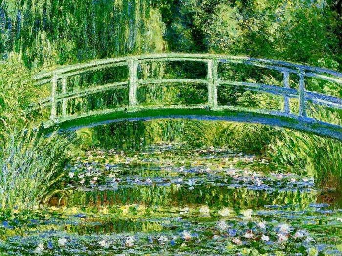 Водяные лили в японском саду, Клод Моне. \ Фото: holst.com.ua.