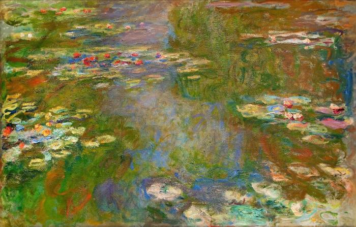 Пруд с водяными лилиями, Клод Моне, 1918 год. \ Фото: artchive.ru.