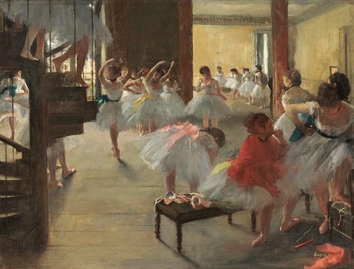 Серия работ Танцевальный класс, 1873 год. \ Фото: mfah.org.