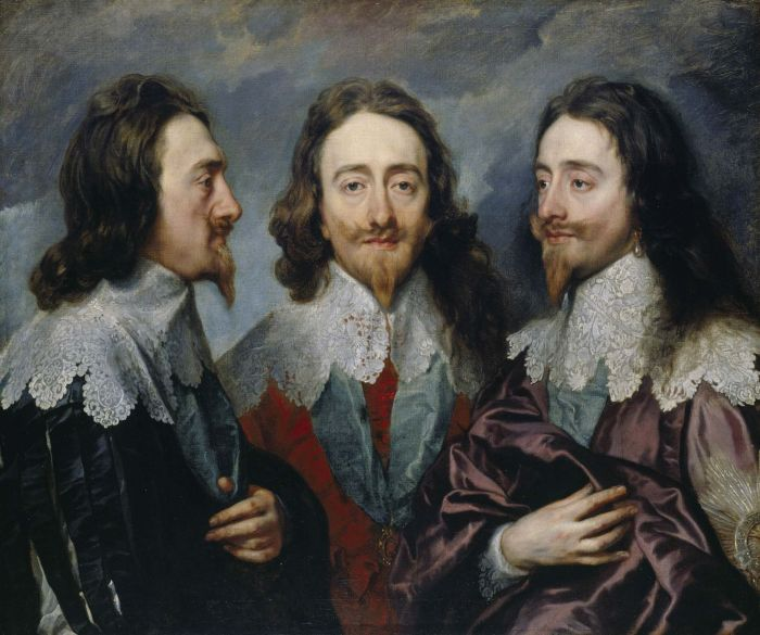 «Карл I с трёх сторон» или «Тройной портрет Карла I», Антонис ван Дейк, 1635-1636 гг. \ Фото: pinterest.co.uk.