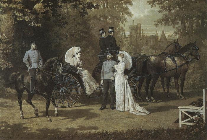 Франц Иосиф и Елизавета на прогулке, 1890 год. \ Фото: liveinternet.ru.