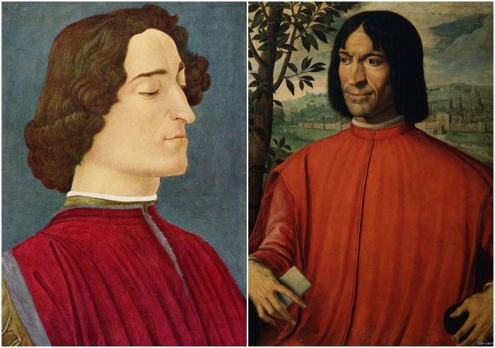 Слева: портрет Джулиано Медичи. \ Справа: Лоренцо Медичи. \ Фото: google.com.