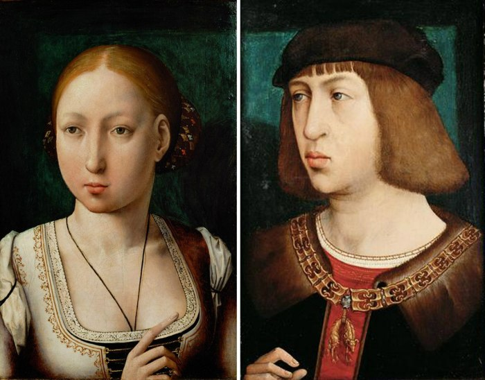 Хуана I Безумная ( 1479 — 1555) — королева Кастилии с 1504 по 1555. Герцог Бургундский Филипп Красивый — сын Максимилиана I. \ Фото: mif-medyza.ru.
