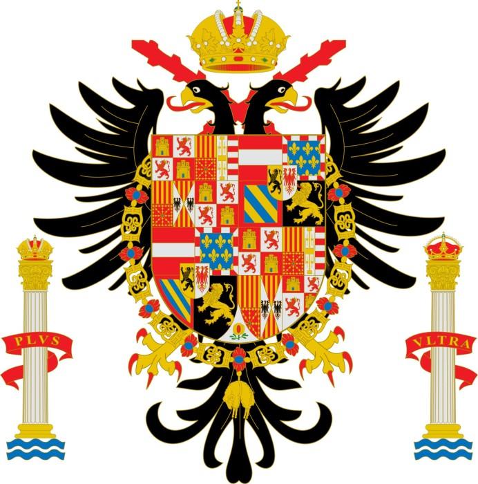 Герб Испании при Карле I (Габсбурге). \ Фото: google.com.