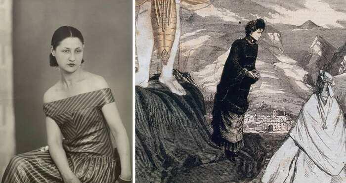 Слева направо: Портрет Валентины Пенроуз, 1925 год. \ Работа Ариана, 1925 год. \ Фото: pinterest.com.