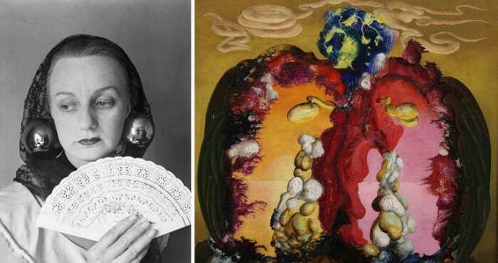 Слева направо: Портрет Итель Кохун. \ Горгона, 1946 год. \ Фото: monden.ro.