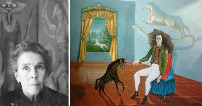 Слева направо: Портрет Леоноры Каррингтон. \ Автопортрет, 1937-38 гг. \ Фото: google.com.