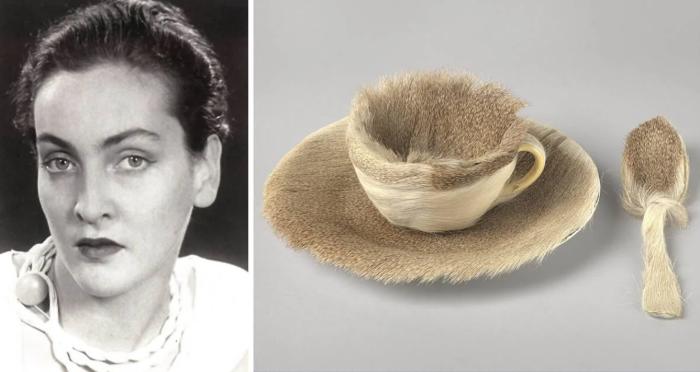 Слева направо: Портрет Мерет Оппенгейм. \  Работа Объект, 1926 год. \ Фото: yandex.ua.